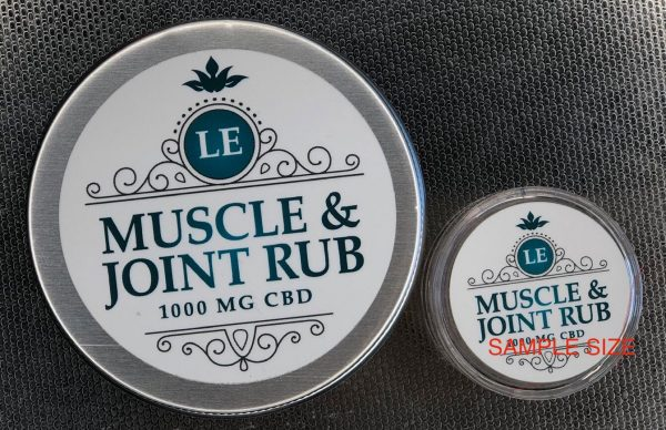 L.E. Muscle & Joint 1000 mg Salve, and Sample Size