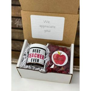 Teacher- Apple Gift Box with Potpourri